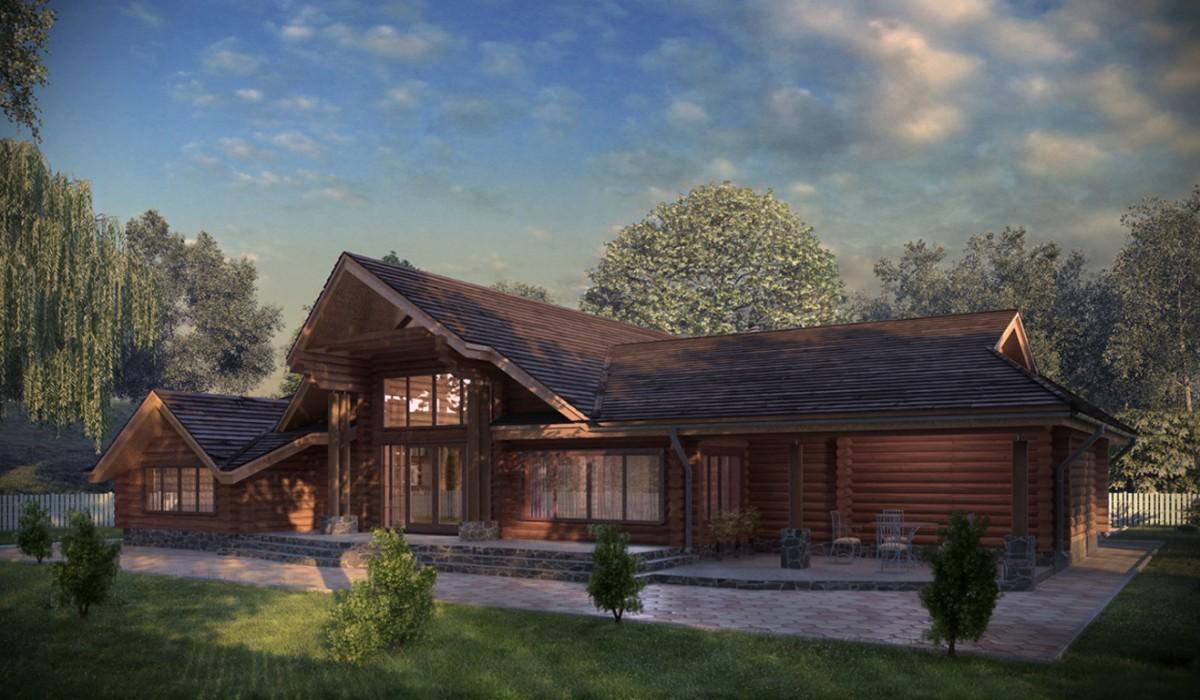 проекты деревянных домов из дикого сруба
