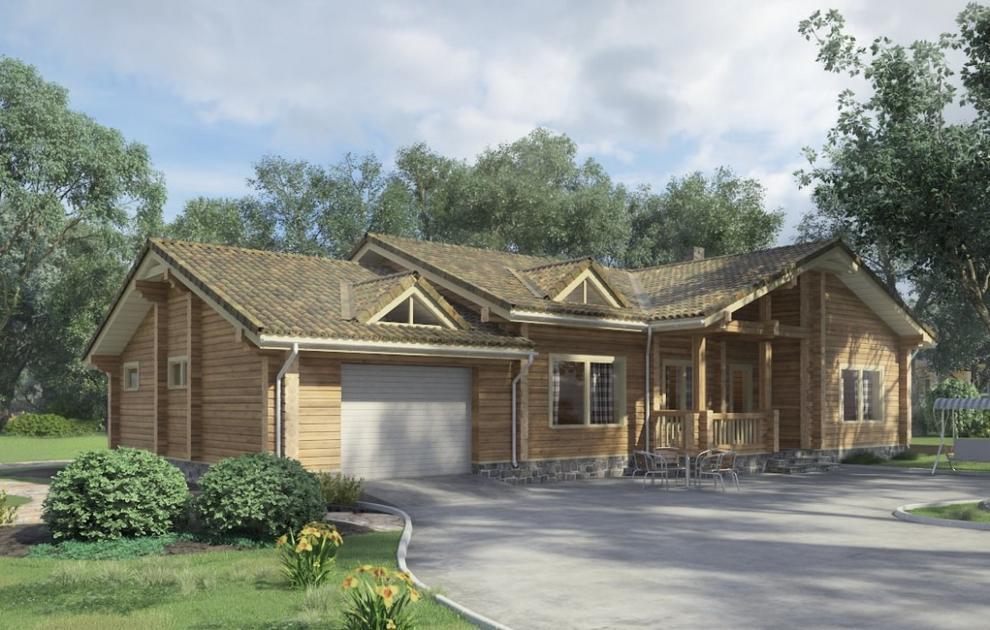 Деревянные дома от компании Деревбуд