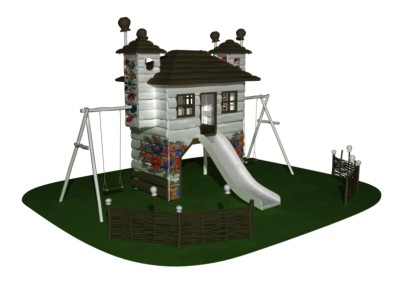 детские площадки из дерева, серия folk