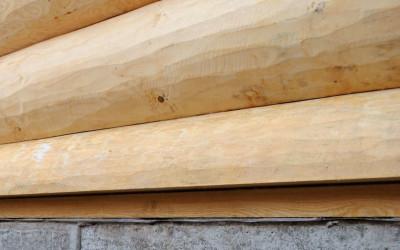 деревянные дома, нижний венец