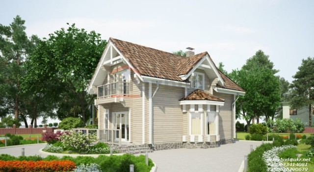 деревянные дома с монсардой